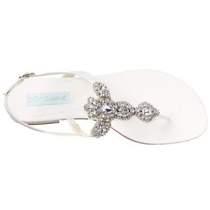 NWT Blue by Betsey Johnson jeweled sandals